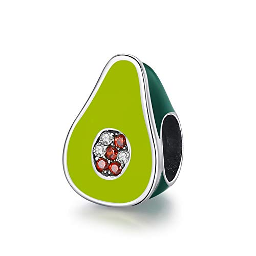 XIAODAN Encantos de Cuentas de la Serie de café Colorido de Plata de Ley 925 Que se Ajustan a la Pulsera Original de 3mm joyería DIY de Moda para Mujer CMC129