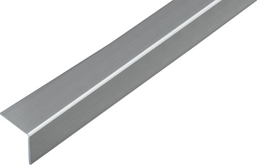 GAH-Alberts 433024 Winkelprofil - selbstklebend, Kunststoff, Edelstahloptik, 1000 x 30 x 30 mm