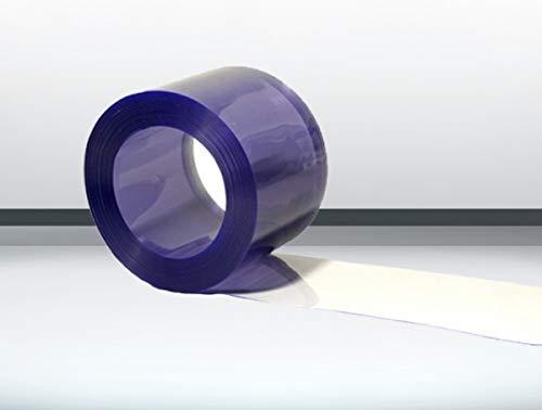 PVC Rolle blau transparent - 25m300x3mm für PVC Streifenvorhang Lamellenvorhang