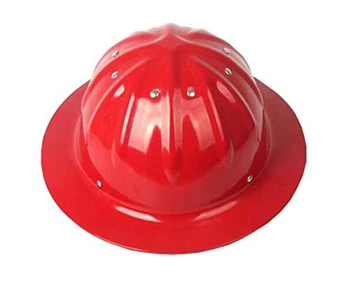 Aluminiumhelm,Aluminium Helm, Bau Helme, Aluminium Hard Hüte, Sonnenschutz, Außenhelm, Sonnenschutz (Farbe : Red)
