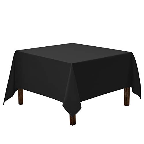 Gee Di Moda Square Tablecloth - 85 x 85 Inch - Black Square Table Cloth for Square or Round Tables in Washable Polyester - Great for Buffet Table, Parties, Holiday Dinner, Wedding & More