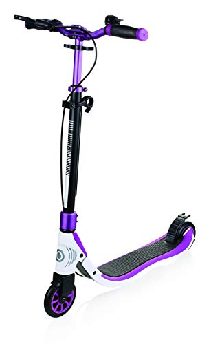 Globber One NL 125 Deluxe Scooter-Titanium, Purple and White Patinete, Infantil, Lila Y Blanco