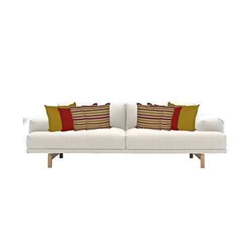 Gartinex Kissenset Kissengarnitur gelb Dekokissen 8 Stück Sofakissen Couch Wohnzimmer