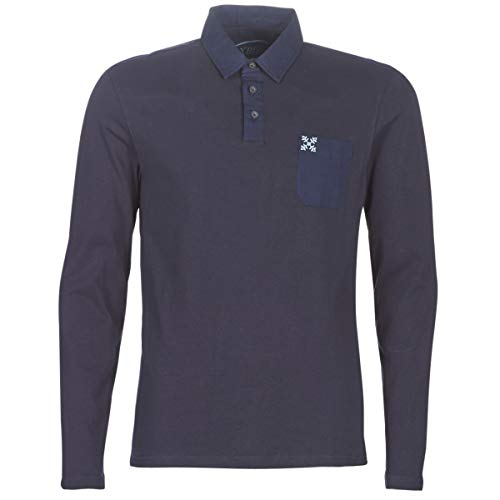 OxbOw Nesta Polo Manches Longues Homme, Deep Marine, FR (Taille Fabricant : XL)