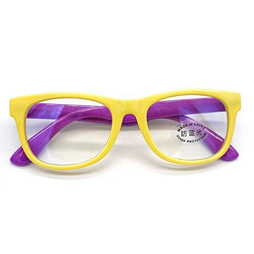 PINGHE Gafas de Bloqueo de Luz Azul para Niños con Lentes Antirayos Azules para Juegos de Ordenador Teléfono Móvil-Gafas Transparentes Coloridas para Leer-Adecuadas para