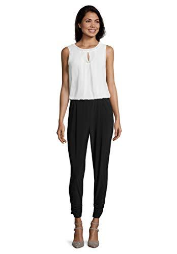 Vera Mont Jumpsuit Black/Cream, 48 Damen