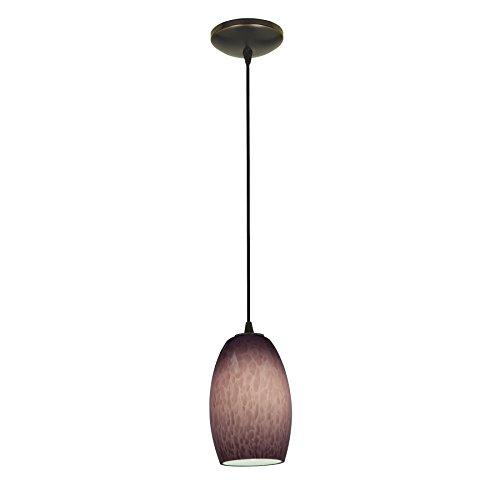 Chianti - E26 LED Cord Pendant - Oil Rubbed Bronze Finish - Purple Cloud Glass Shade