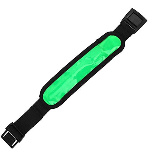 FOLOSAFENAR Brazalete LED, diseño de Hebilla de liberación Brazalete Intermitente Modo de luz LED de 3 velocidades para Correr en Deportes nocturnos al Aire Libre(Green)
