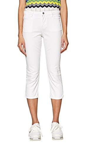 edc by ESPRIT Damen 039CC1B032 Straight Jeans, Weiß (White 100), W27 (Herstellergröße: 27)
