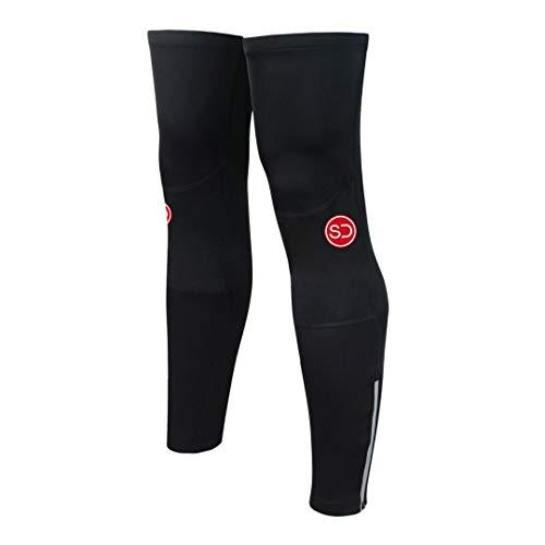 SUNDRIED Radfahren Beinlinge Thermal Sleeves Für Radfahren am besten für Winter-Fahrrad-Reiten Bike Bekleidung (Schwarz, L)