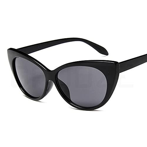IRCATH Gafas de Sol Redondas para Mujeres Gafas de Mujer Grande antirreflejo antirreflejo Adecuado para Conducir Playa Trekking Party-Gris Negro Adecuado para Conducir en la Playa Se Puede Utilizar p