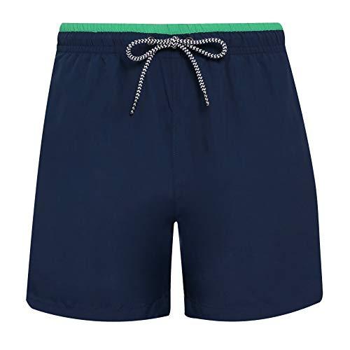 Asquith & Fox Badeshorts für Herren von Holiday Gym-Badehose - Marineblau/Kelly Grün (S)