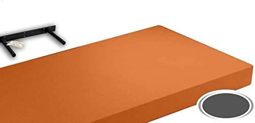 GICOS IMPORT EXPORT SRL Mensola da Parete pensile scaffale in Legno MDF da Muro Colore Arancione 120 * 25 * 4 cm DOU-789359