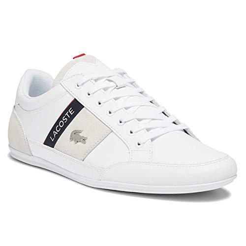 Lacoste Chaymon 0721 2 CM - Zapatillas bajas de piel para hombre, color Blanco, talla 44 EU