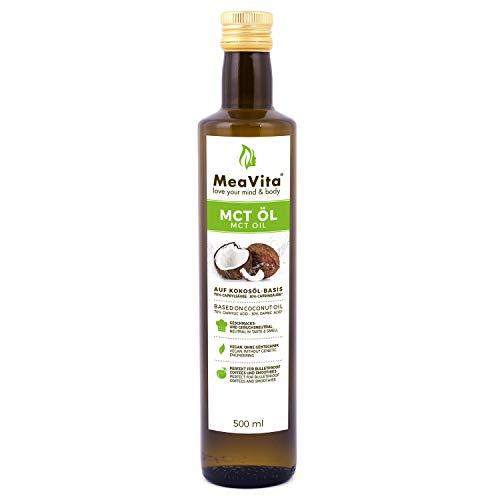 Meavita Aceite Meavita Mct, Calidad Superior, 1 Paquete (1X 500 Ml) 500 ml