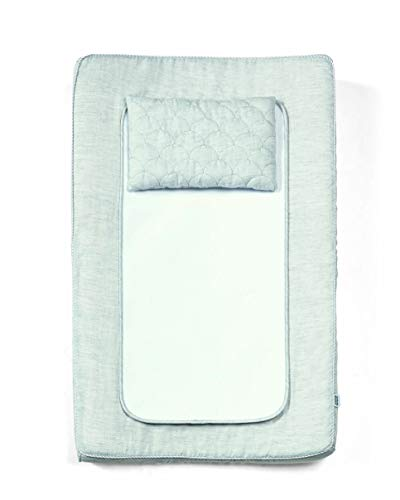 Mamas & Papas Contour Changing Nappy Mattress, Cushioned with Machine Washable Cover - Welcome to The World Grey