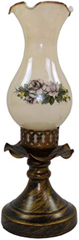 American Country Kerosin Tischlampe Kreative Kunst Schmiedeeisen Tischlampe Schmiedeeisen Nostalgische Schlafzimmer Nachttischlampe (Design   Dimmschalter)