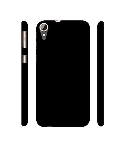Casotec Solid Black Design 3D Printed Hard Back Case Cover for HTC Desire 830