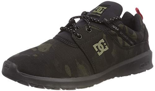 DC Shoes Heathrow TX Se, Zapatillas de Skateboard para Hombre, Negro (Camo Black Kco), 39 EU