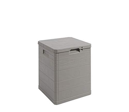 Toomax Art. 173 Aufbewahrungsbox für den Außenbereich, 90 l, Kunststoff, Taupe, Polypropylen, Taubengrau, 90L - cm 42,5x44x50h