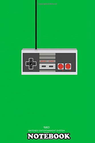 Notebook: Nintendo Entertainment System Controller , Journal for Writing, College Ruled Size 6