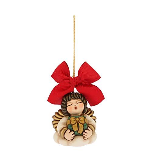 THUN ® - Addobbo per Albero di Natale Angelo - Ceramica - h 6,3 cm - Linea I Classici