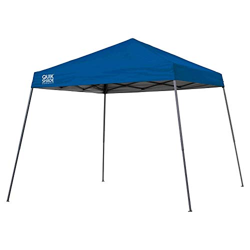 Quik Shade Expedition 10 x 10-Foot Instant Canopy Slant Leg Outdoor Tent with 64 Square Feet of Shade - Royal Blue, Model:160718