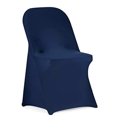 Stretch Spandex Folding Chair Slipcovers for Wedding Party Dining Banquet Event Set Of 6