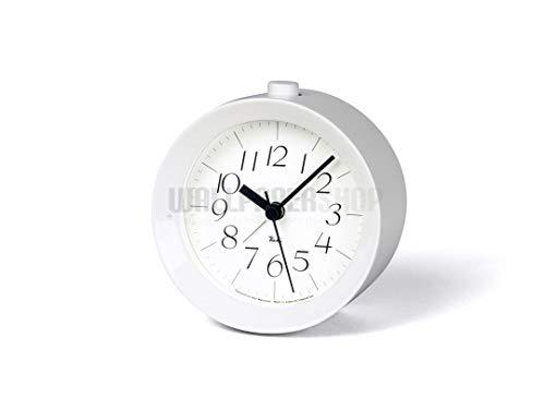 Lemnos Riki Alarm Clock Weiss - Design-Wecker aus Japan mit leisem Uhrwerk