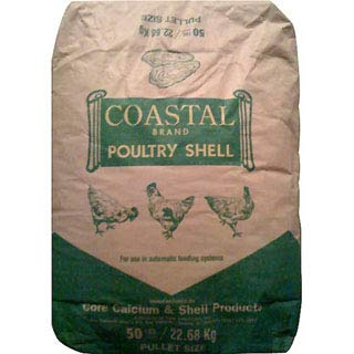 Homestead Harvest Coastal Oyster Shell Calcium Supplement – for Chickens and Ducks (50 lb)
