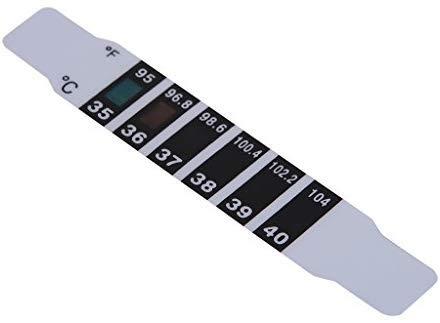 Fieber Kopf Thermometer Fieberpflaster Kinder 10x Stirnthermometer Temperaturtest Test Streifen Baby Stirn Band Reise Unterwegs Hygienisch Temperatur