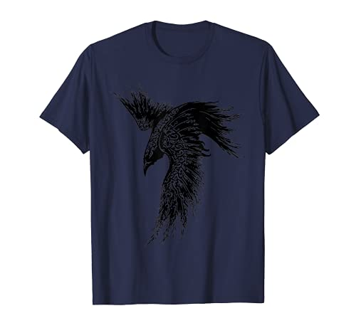 Crow Raven Norse Mythology Viking Gift for Vikings lover T-Shirt