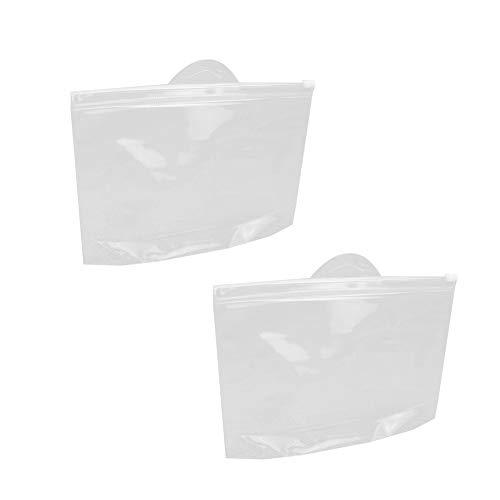 Portable Transparent Sac Cosmétique Multi-fonction Voyage Sac De Rangement Clair Maquillage Sac De Toilette Extérieure Pochette En Plastique Accueil Accessoires 2pcs