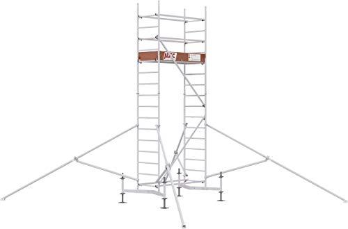 ALTEC Rollfix® 1.0 500 | 5m AH | hvst. Fußplatten | teleskopierbare Traverse | Dreieckausleger | Made in Germany | TÜV&GS | belastbar 200kg/m² | Alu Arbeitsgerüst | Baugerüst | Fahrgerüst