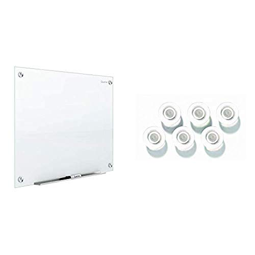 Quartet Glass Whiteboard, Magnetic Dry Erase White Board, 6 x 4 feet, Infinity, White Surface (G7248W) & Strong Magnets, Glass Whiteboard, Dry Erase Board, Large, Assorted Colors, 6 Pack (85392)
