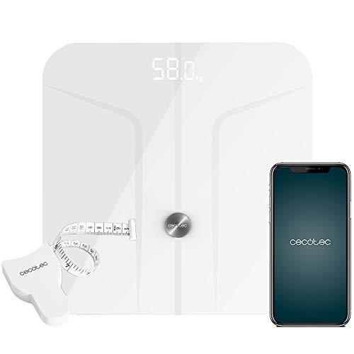 Cecotec Báscula de baño Surface Precision 9700 Smart Healthy. Función Bioimpedancia, Conectividad Bluetooth, Superficie vidrio templado