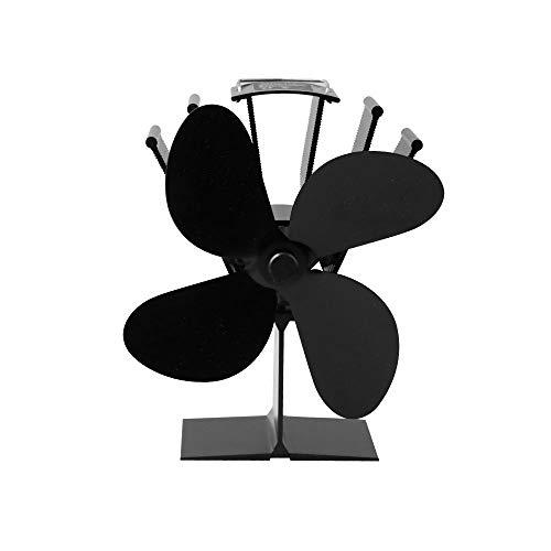 KOBSAINF Heat Powered Stove Fan Wood Burner Fan 4 Blades Heat Powered Fireplace Fan for Gas/Pellet/Wood Log Burner Fireplace