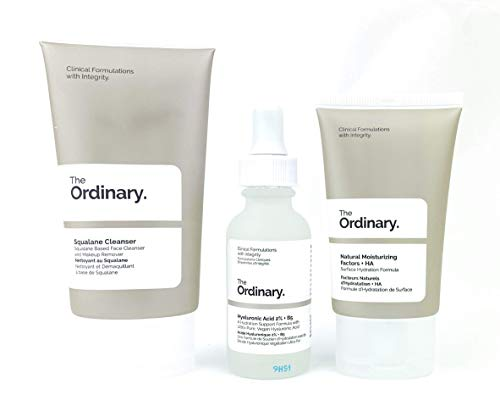 The Daily Set.Three Hydrating Formulas. Squalane cleanser(50ml)&The Ordinary Hyaluronic Acid 2{a9bd5c452d0f45b1d5beee4d82b7882513a9309f9bbb9e2596392149a8c6b472} + B5 face serum (30ML)&Natural Moisturizing factors+HA (30ml) Ordinary Skincare Hyaluronic Acid Serum