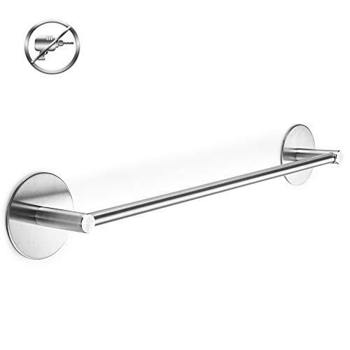 Toallero de baño autoadhesivo Acero Inoxidable Toallero de Barra Toallero barra 40CM (Circular)
