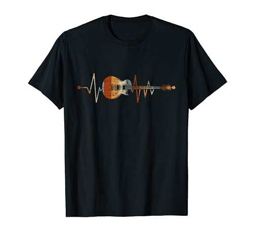 Geschenk für Gitarrenspieler Herzschlag Gitarre T-Shirt