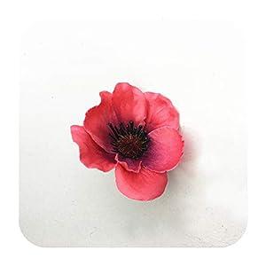 SmarketL 15Colors 7CM Artificial Silk Poppy Flower Heads for DIY Wedding Decoration Hairpin Wreath Accessories Festival Supplier-11-15 Pieces