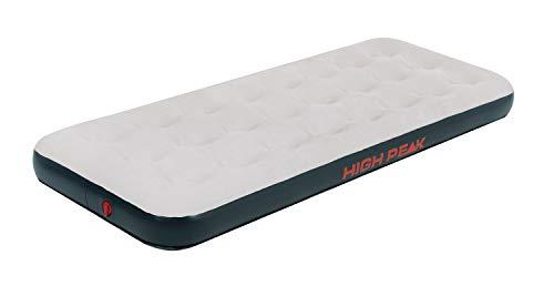 High Peak Unisex Single Luftbett, mit Anti-Rutsch Funktion, atmungsaktiv, robust, Oberseite weich, für Indoor und Outdoor, hellgrau/dunkelgrau, 185 x 74 x 20 cm