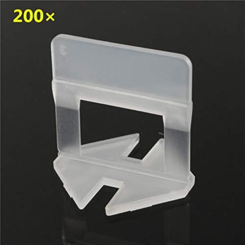Yongse 200 stuks 1 mm tegels keramiek wit 1 mm toegankelijkheid afstandhouder clip kunststof