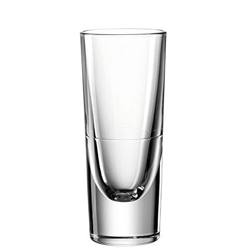Leonardo Gilli Grappa-Glas, Schnaps-Becher aus Glas, spülmaschinengeeignete Stamper, 6er Set, 15 cl, 043406