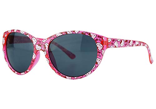 HOVUK Hello Kitty Pink Frame Kids Licensed UV400 Girls Sunglasses 3+year, Gift