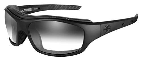 Harley-Davidson Men's Tunnel Sunglasses, LA Gray Lens/Matte Black Frame HDTNL05 -  Wiley X, Inc.