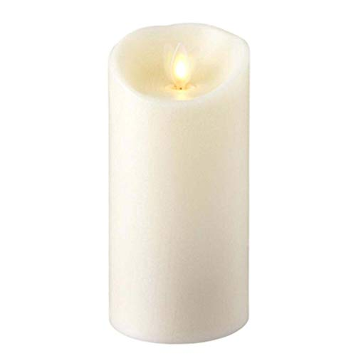 Liown Flameless Candle: Vanilla Scented Moving Flame Candle with Timer (6' Ivory)