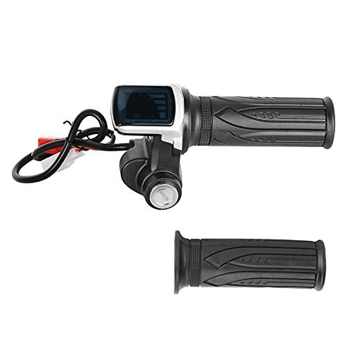CUTULAMO Manillar del Acelerador del medidor Digital LED, Manillar del Acelerador del Scooter eléctrico Antideslizante práctico para triciclos para Scooters