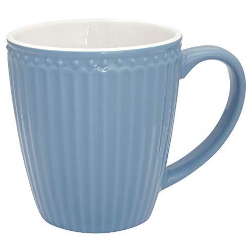 GreenGate - Becher, Tasse, Henkelbecher - Alice - Porzellan - Sky Blue - 400 ml