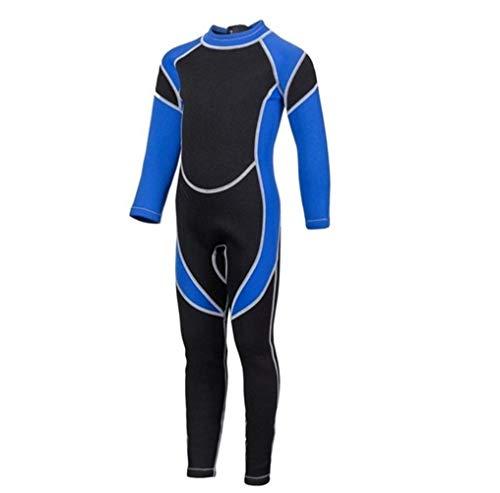 Z.L.FFLZ Nadelanzug 2.5MM Neopren Wetsuits Kids Swimwears Taucheranzüge mit Langen Ärmeln Jungen Mädchen Surfen Kinder Rash Guards Schnorchel EIN Stück h1 (Color : Blau, Size : 10)